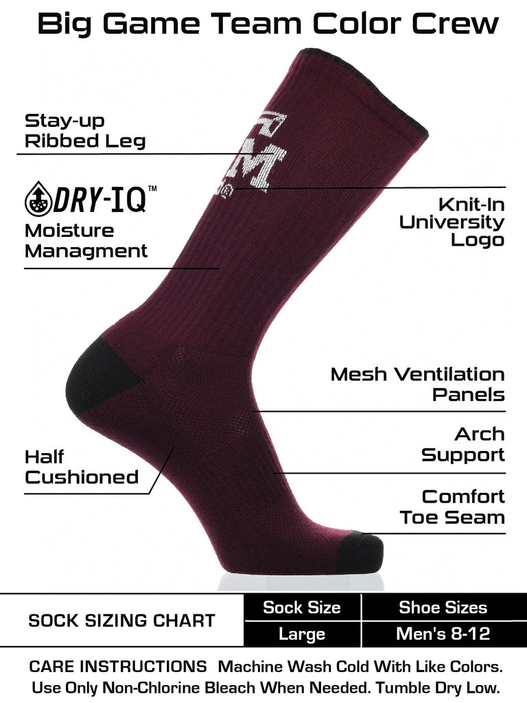 Texas A&M Aggies Socks Campus Legend Crew Length