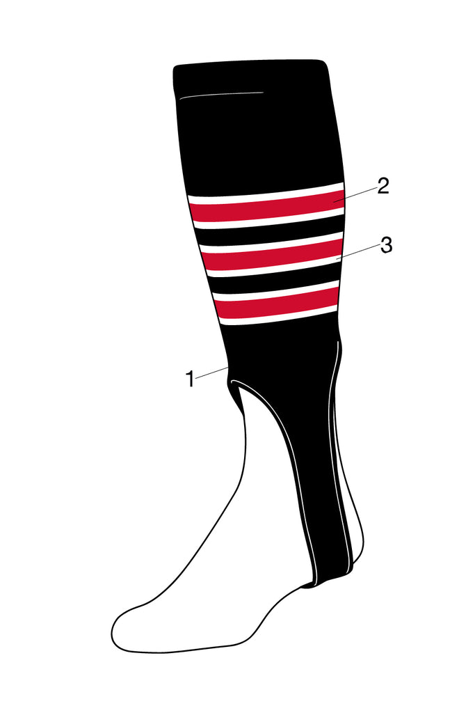 Custom Baseball Stirrups Pattern D