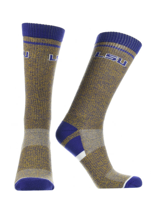 LSU Tigers Socks Victory Parade (Purple/Gold, Large) - Purple/Gold,Large