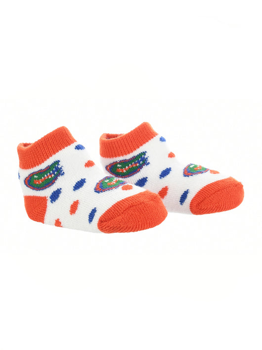 Florida Gators Toddler Socks Low Cut Little Fan (Orange/Blue/White, 2T-4T) - Orange/Blue/White,2T-4T