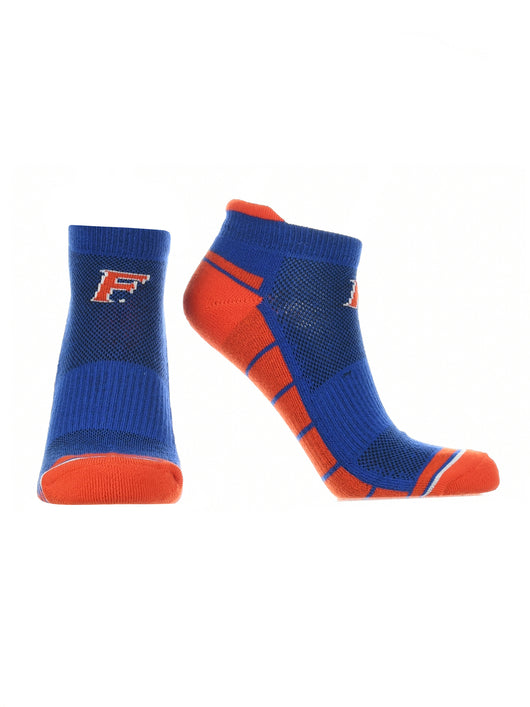 Florida Gators Low Cut Ankle Socks Tab (Blue/Orange/White, Large) - Blue/Orange/White,Large