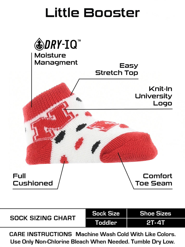 Nebraska Cornhuskers Toddler Socks Low Cut Little Fan