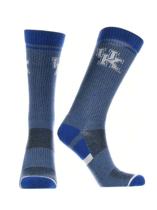 Kentucky Wildcats Socks Victory Parade (Blue/Grey/White, Large) - Blue/Grey/White,Large