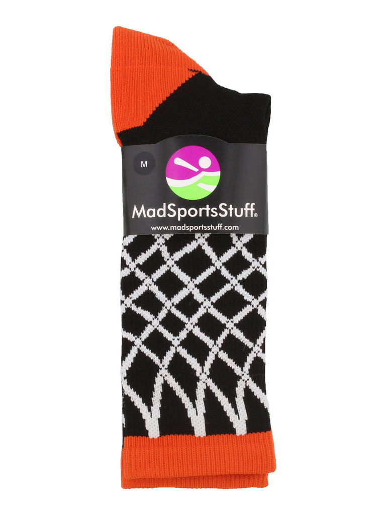 Elite Basketball Socks with Net Crew length - made in the USA