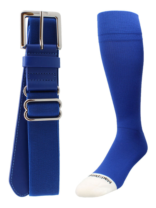 Pro Line Baseball Socks and Belt Combo (Royal, Small) - Royal,Small