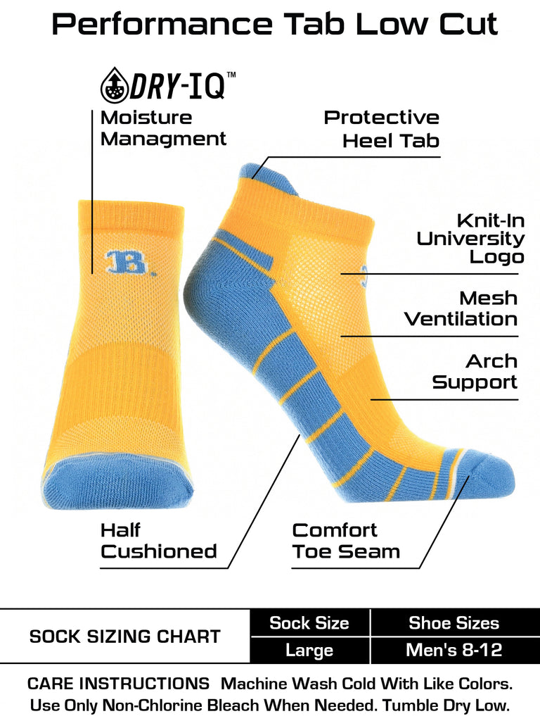 UCLA Bruins Low Cut Ankle Socks with Tab