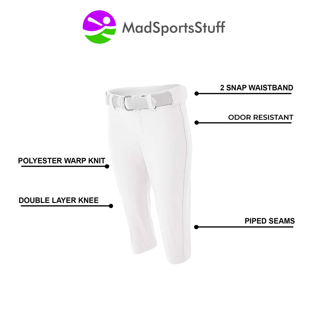 Womens Softball Pants Capri Length Pro Line