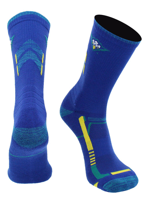 UNC Wilmington Seahawks Champion Crew Socks (Navy/Teal, Large)