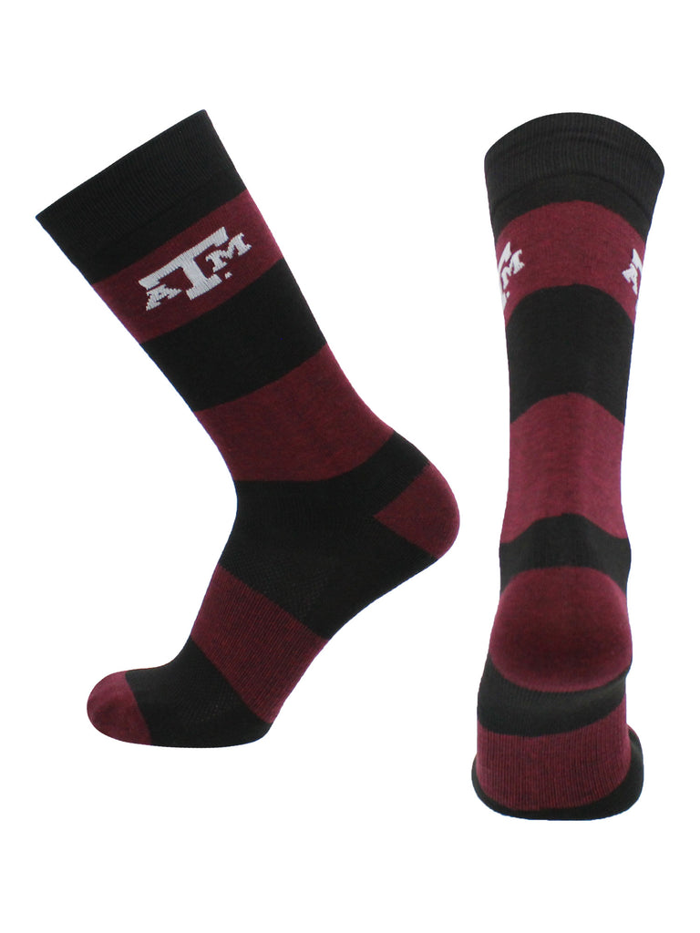 Texas A&M Aggies Socks Game Day Striped Crew Socks