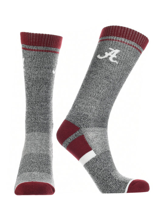 Alabama Crimson Tide Socks Victory Parade (Crimson/Grey/White, Large) - Crimson/Grey/White,Large