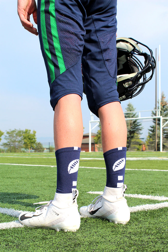 Football Logo Athletic Crew Socks (multiple colors)