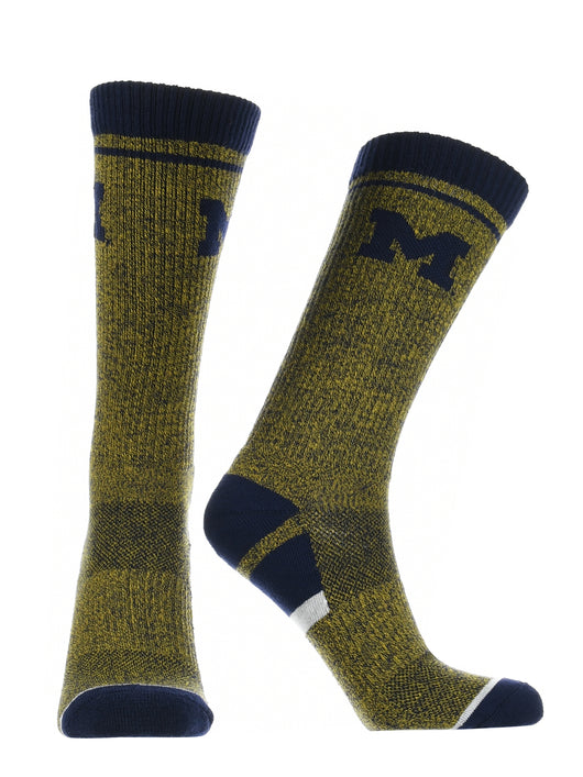 Michigan Wolverines Socks Victory Parade (Blue/Maize, Large) - Blue/Maize,Large