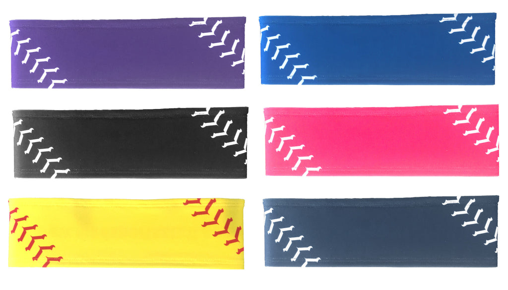 Softball Stitch Headband (multiple colors)