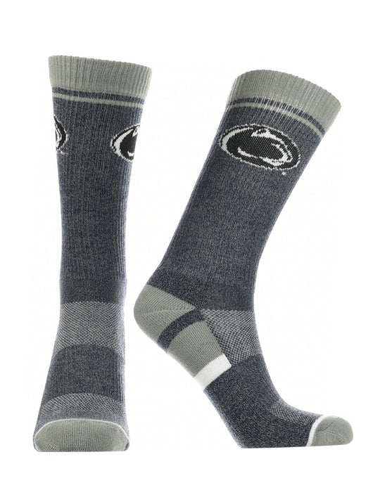 Penn State Nittany Lions  Socks Victory Parade (Navy/Grey/White, Large) - Navy/Grey/White,Large