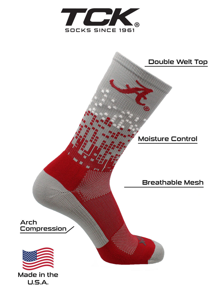 Alabama Crimson Tide Socks Downtown Crew