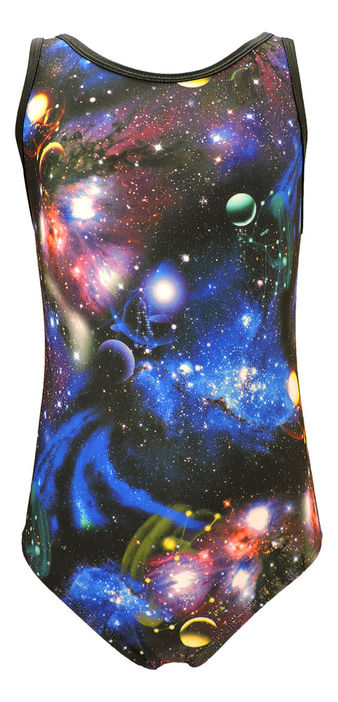 Tank Style Galaxy Girls Gymnastics Leotard