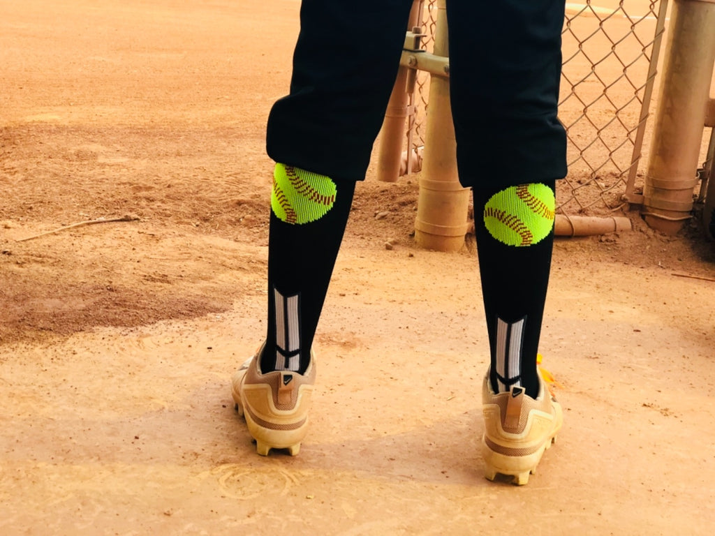 Softball Socks with Softball Logo for Girls or Women - Athletic Over the Calf Socks