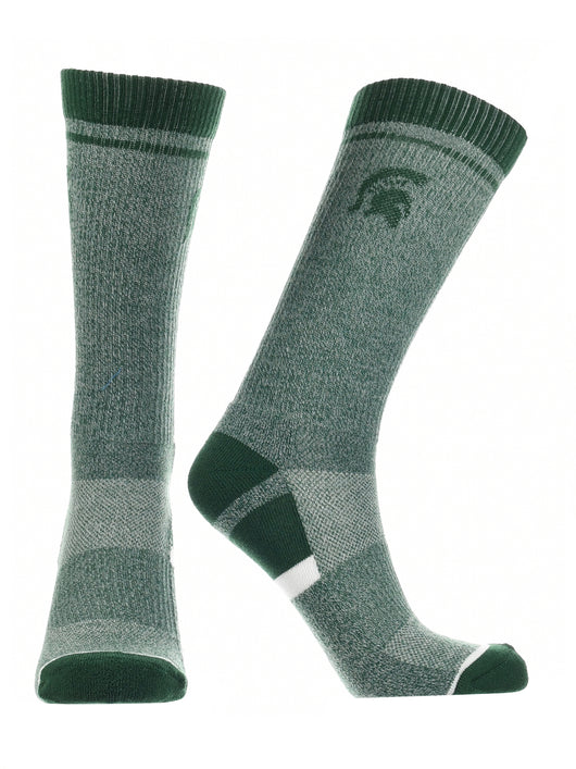 Michigan State Spartans Socks Victory Parade (Green/White, Large) - Green/White,Large