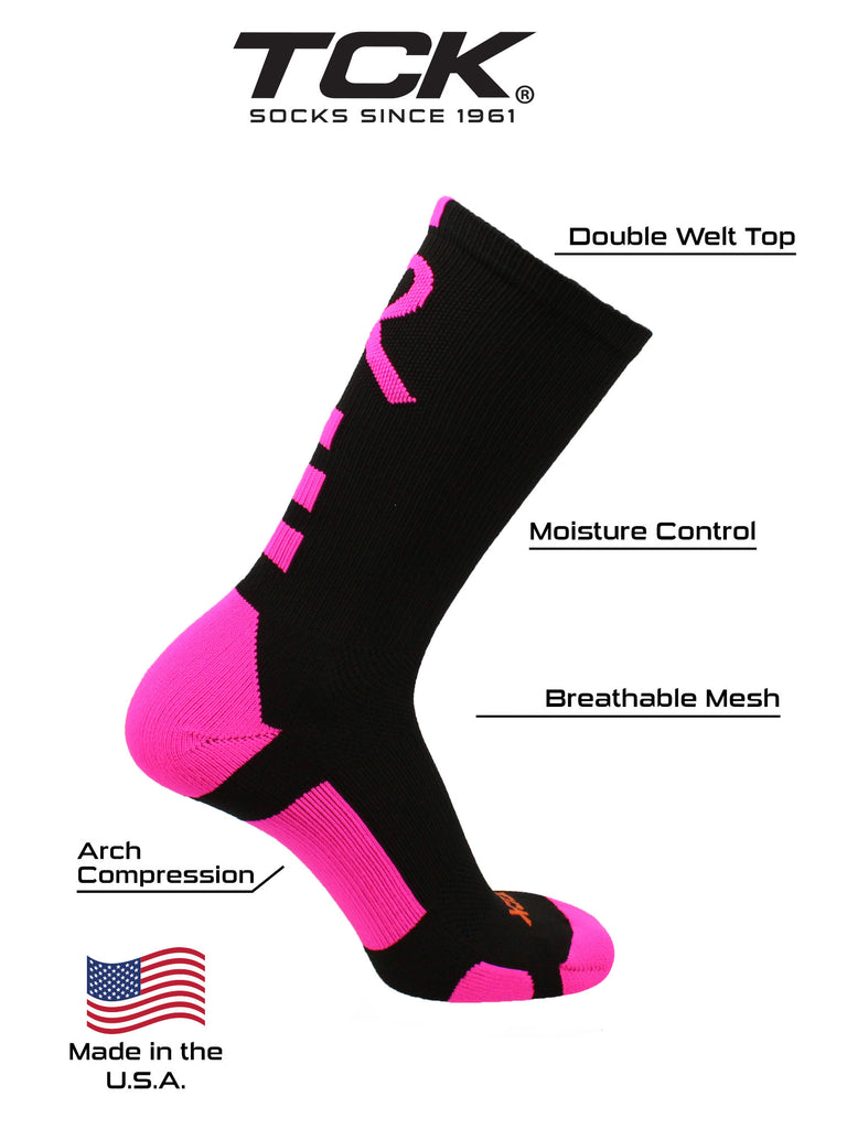 Baseline Awareness Athletic Crew Socks (Kids and Adult Sizes)