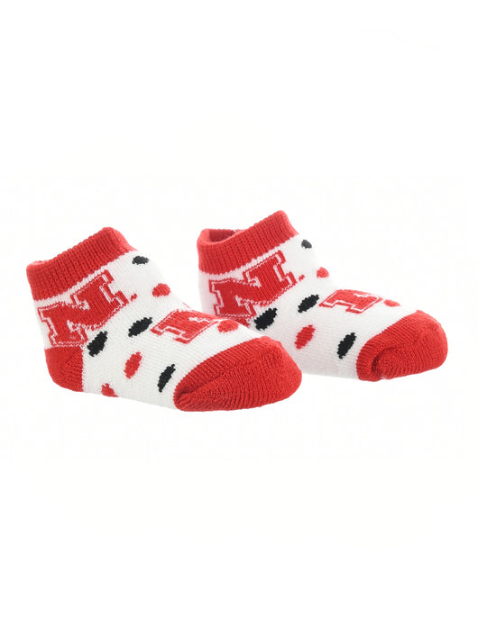 Nebraska Cornhuskers Toddler Socks Low Cut Little Fan (Red/Black/White, 2T-4T) - Red/Black/White,2T-4T