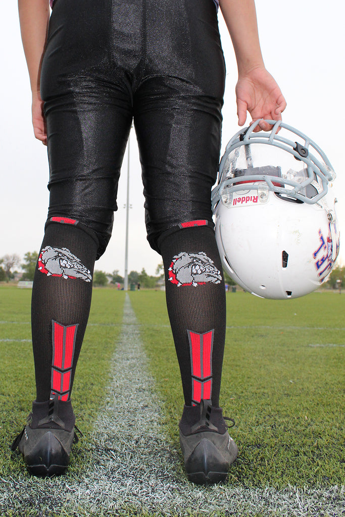 Bulldog Logo Over the Calf Socks