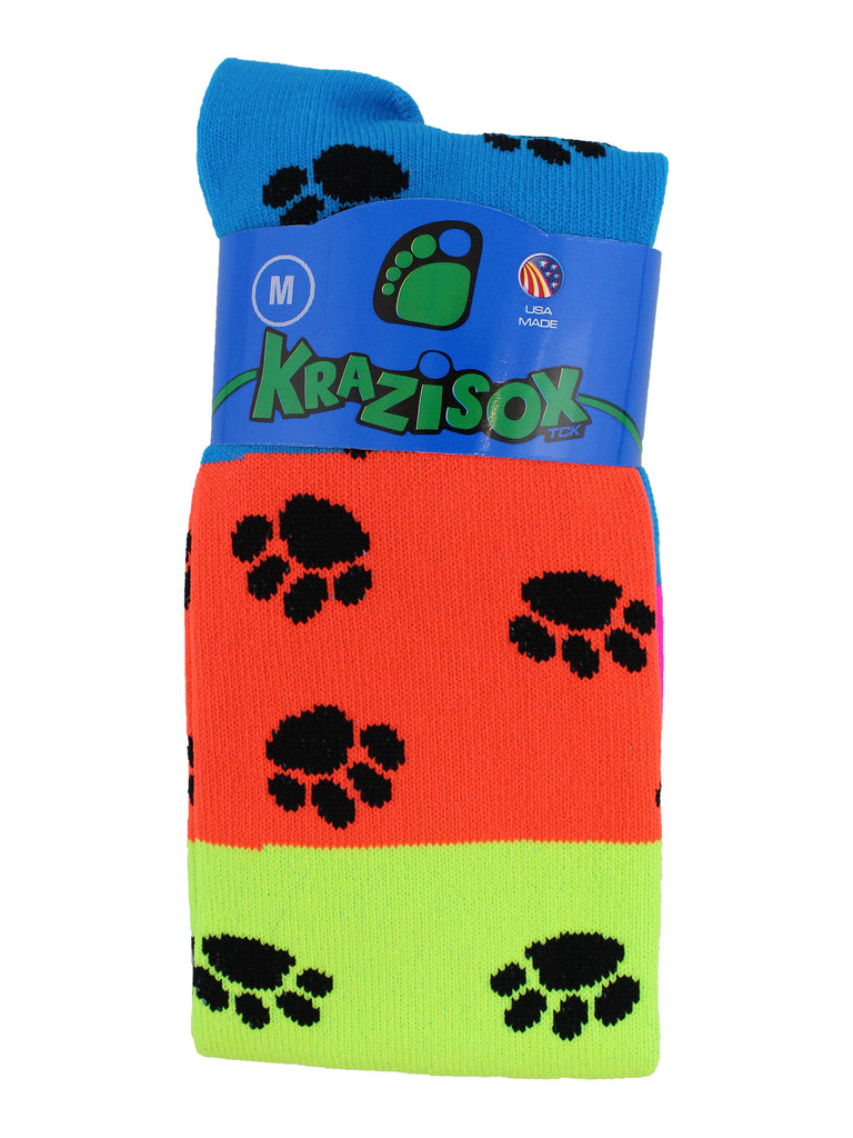 Neon Rainbow Fun Print OTC Socks