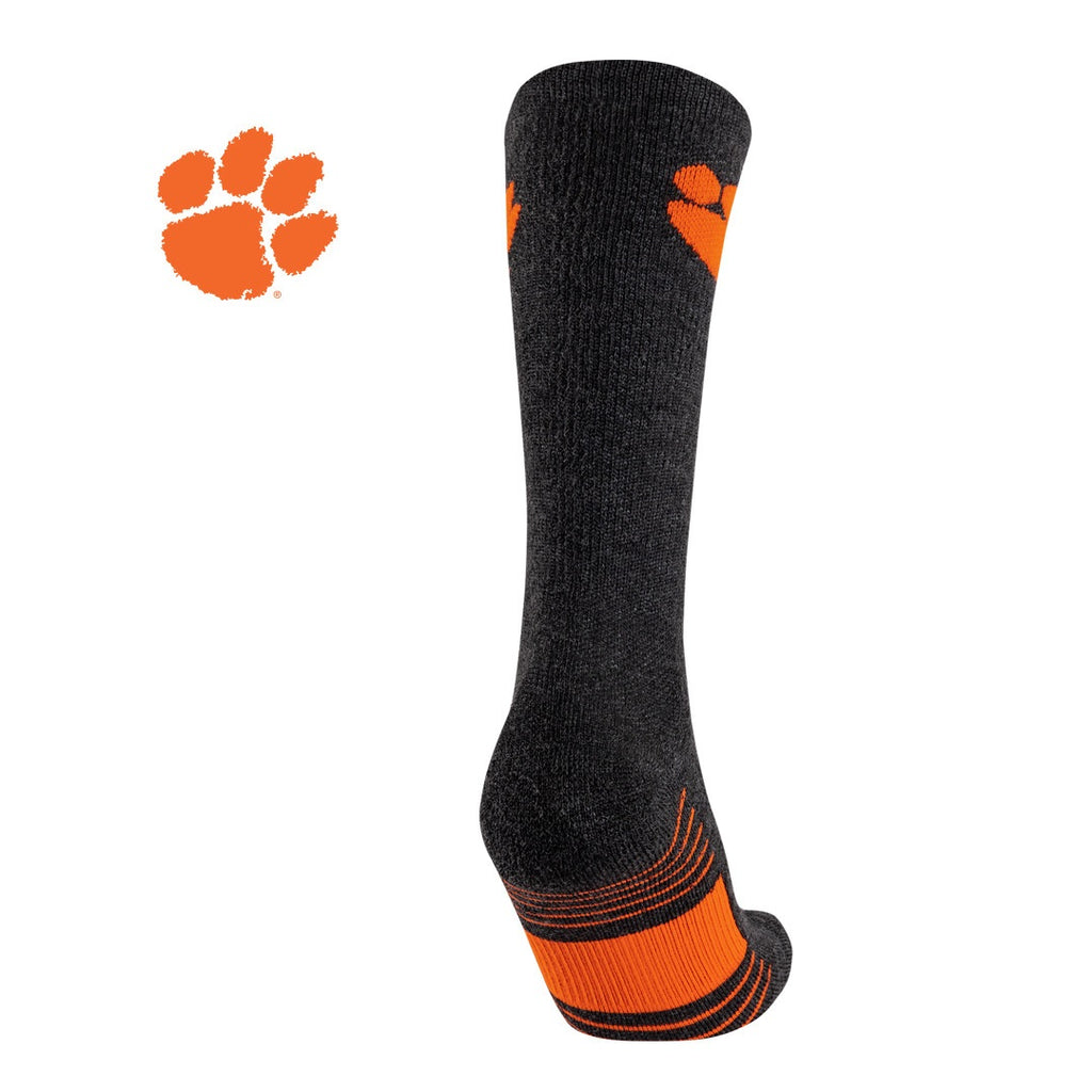 TCK Clemson University Tigers Socks - Pure Merino Wool - Far Trek