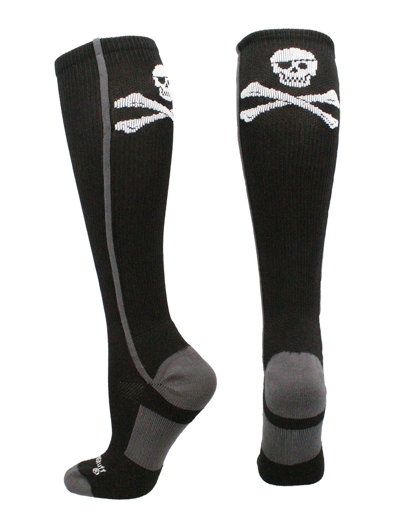 Pirate Skull and Crossbones (Jolly Roger) Over the Calf Socks