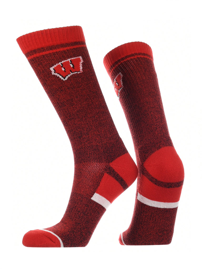 Wisconsin Badgers Socks Victory Parade Crew Length