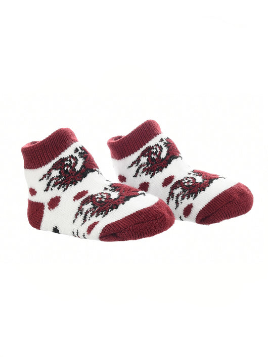 South Carolina Fighting Gamecocks Toddler Socks Low Cut Little Fan (Garnet/Black/White, 2T-4T) - Garnet/Black/White,2T-4T