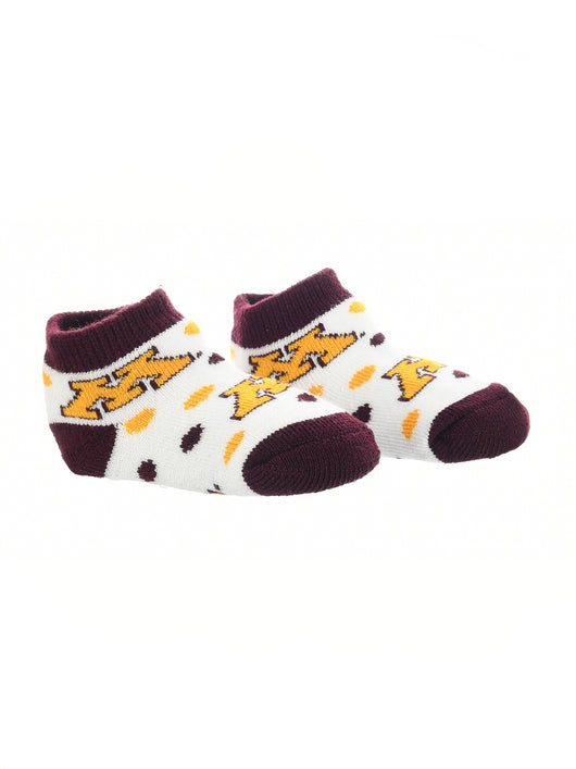 Minnesota Golden Gophers Toddler Socks Low Cut Little Fan (Maroon/Gold/White, 2T-4T) - Maroon/Gold/White,2T-4T