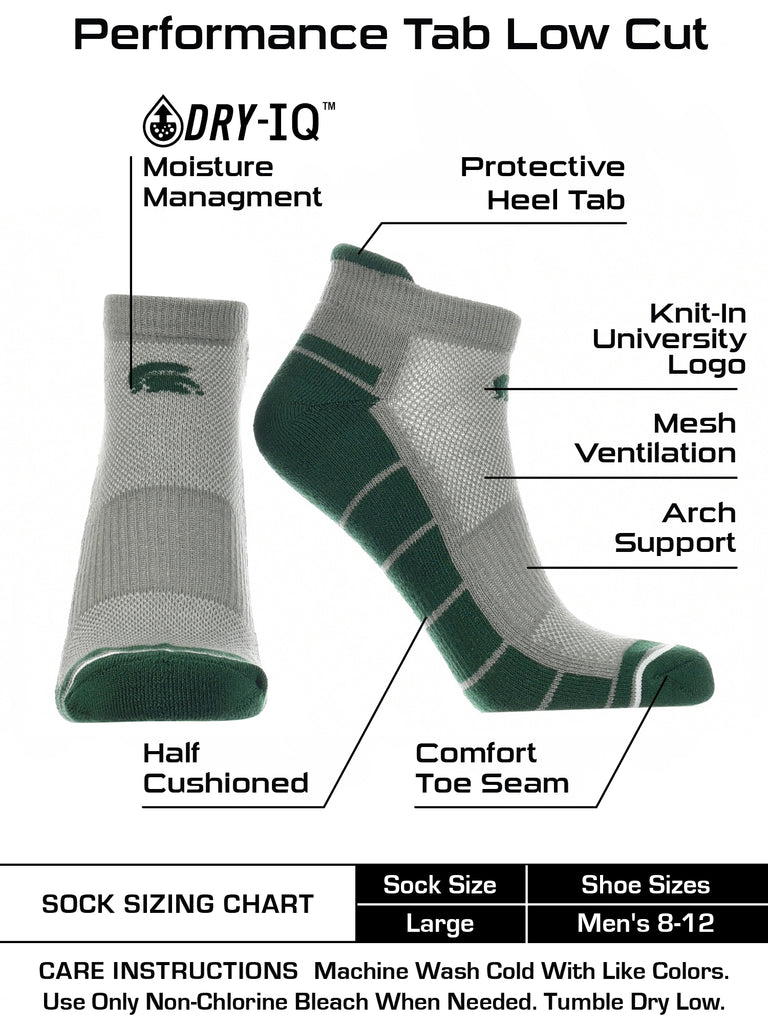 Michigan State Spartans Low Cut Ankle Socks with Tab