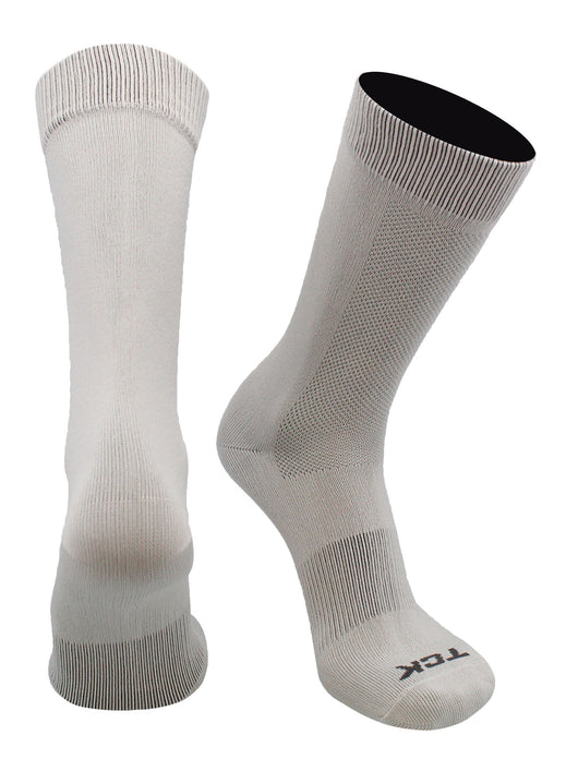 Skate Liner Hockey Socks Crew Length (Grey, Large)