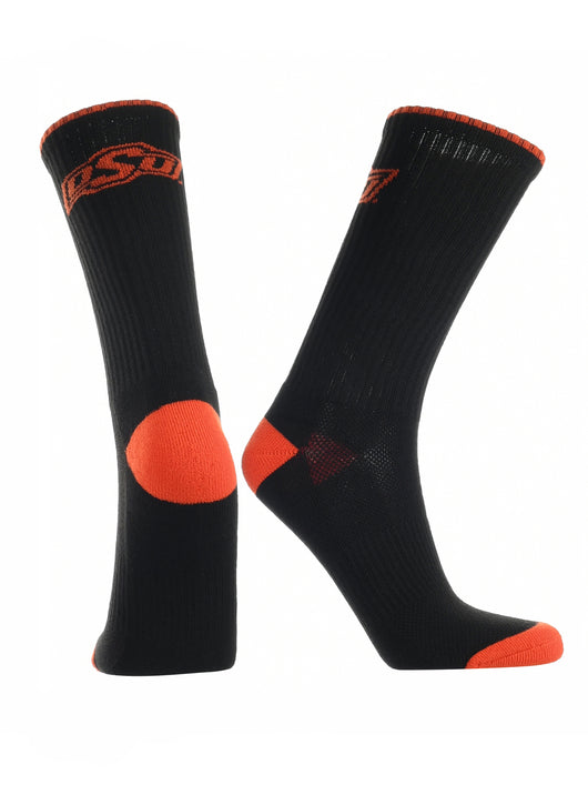 Oklahoma State Cowboys Socks Campus Legend Crew (Black/Orange, Large) - Black/Orange,Large