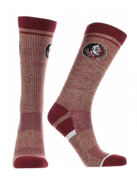 Florida State Seminoles Socks Victory Parade (Garnet/Grey/White, Large) - Garnet/Grey/White,Large