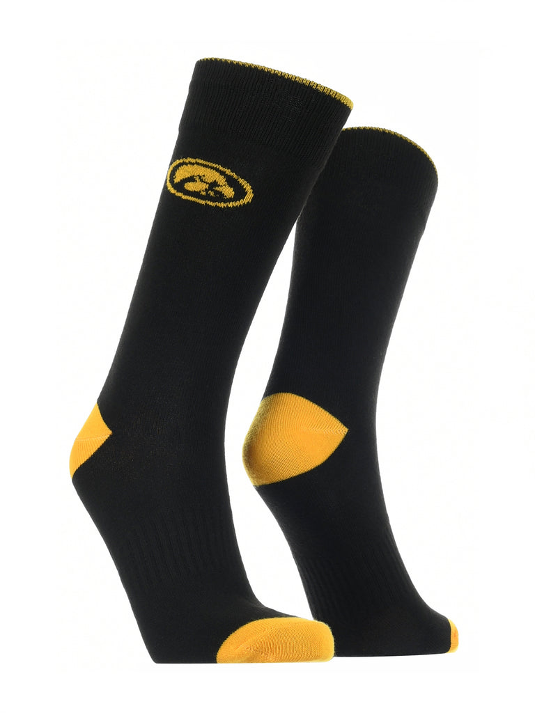 Iowa Hawkeyes Dress Socks Dean's List Crew Length Socks