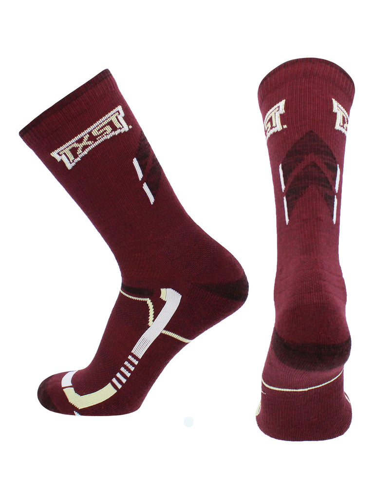 Texas State Bobcats Socks Texas State University Bobcats Champion Crew Socks