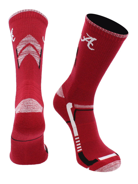 Alabama Crimson Tide Champion Crew Socks (Crimson/White, Large)