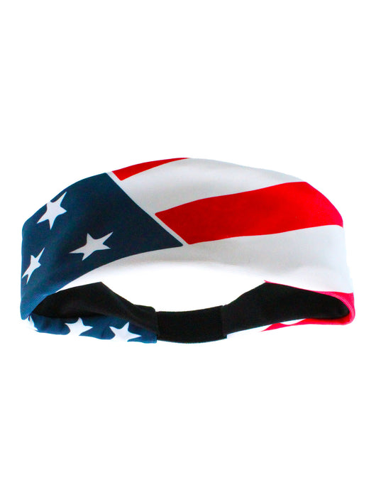 Patriotic USA American Flag Headband with Stars and Stripes (Red/White/Blue, One Size) - Red/White/Blue,One Size