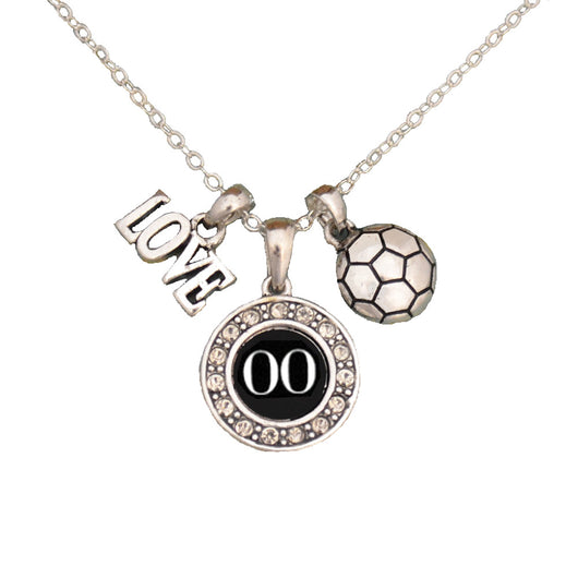 Custom Player ID Soccer Necklace (#00, One Size) - #00,One Size