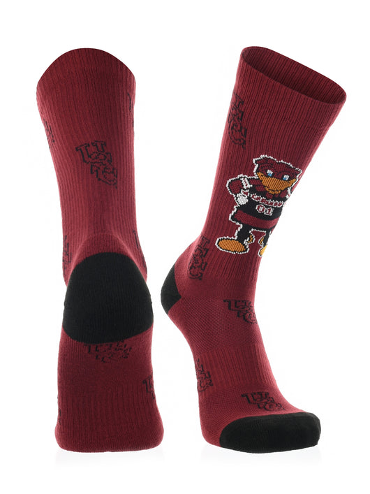 South Carolina Gamecocks Socks Sock Mayhem Crew (Garnet/Black, Large) - Garnet/Black,Large