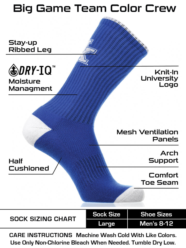 Kentucky Wildcats Socks Campus Legend Crew Length