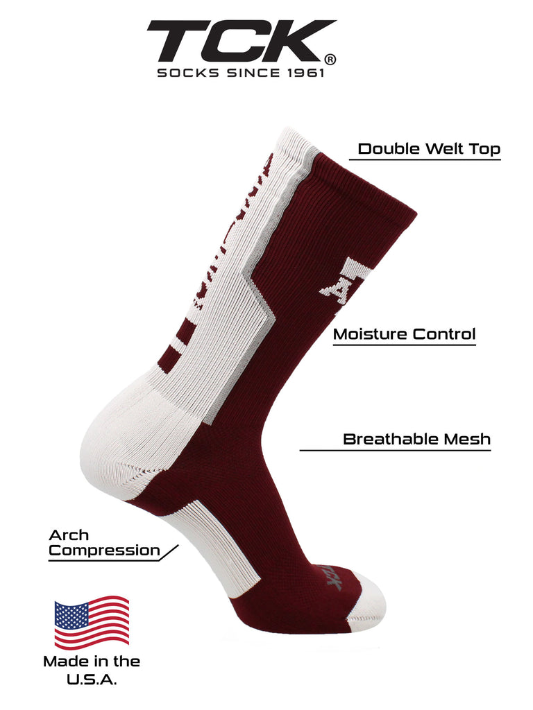 Texas A&M Aggies Socks Perimeter Crew