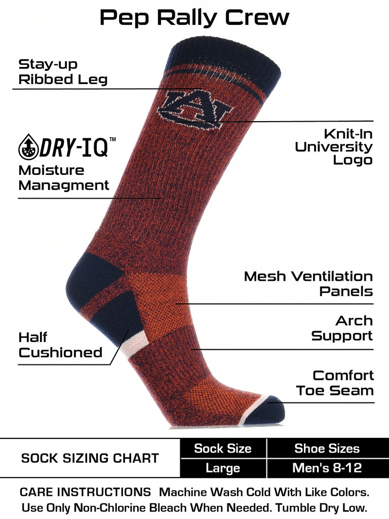 Auburn Tigers Socks Victory Parade Crew Length