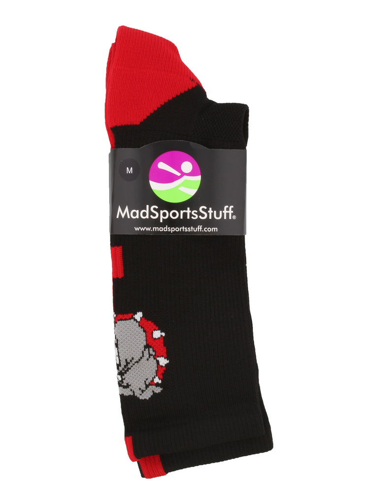 Bulldogs Logo Athletic Crew Socks (multiple colors)