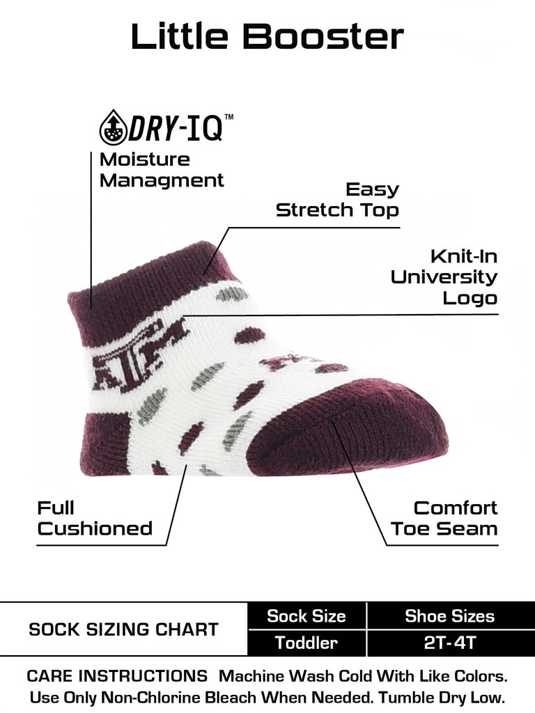 Texas A&M Aggies Toddler Socks Low Cut Little Fan