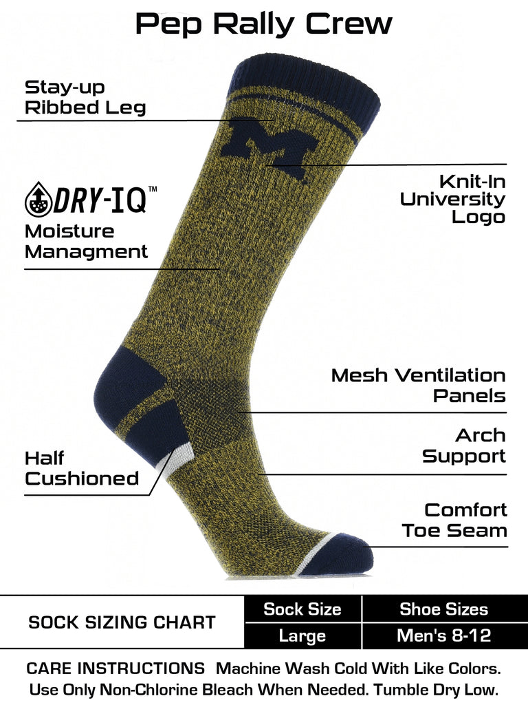Michigan Wolverines Socks Victory Parade Crew Length