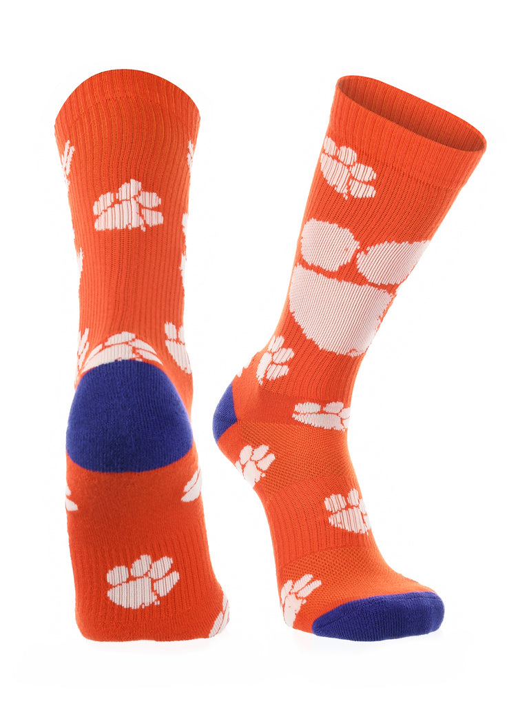 Clemson Tigers Socks Crew Length Sock Mayhem