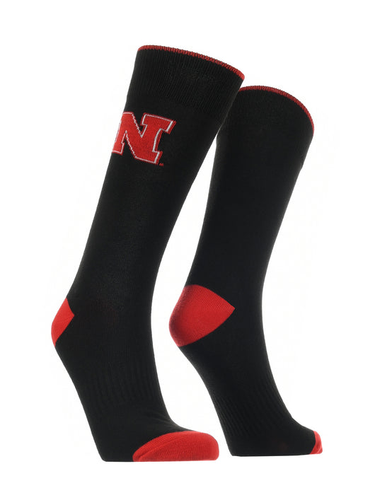 Nebraska Cornhuskers Dress Socks Dean's List (Black/Red, Large) - Black/Red,Large