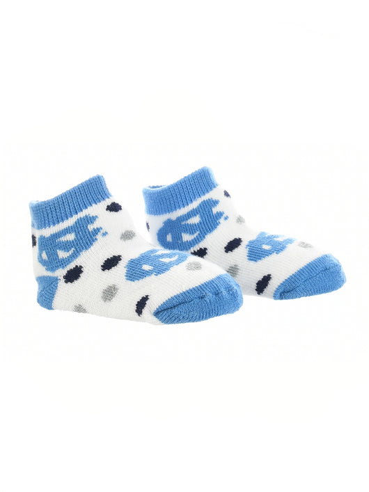 North Carolina Tar Heels Toddler Socks Low Cut Little Fan (Carolina Blue/Navy/White, 2T-4T)